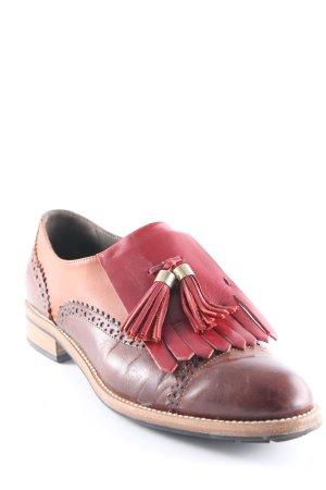 Parlanti Zapatos Budapest marrón-rojo oscuro estilo «business»