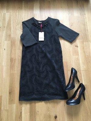 PAROSH Kleid mit Spitzenapplikation