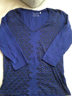 PART TWO T-Shirt 3/4 Arm, blau mit Print, Gr. XL, wie NEU