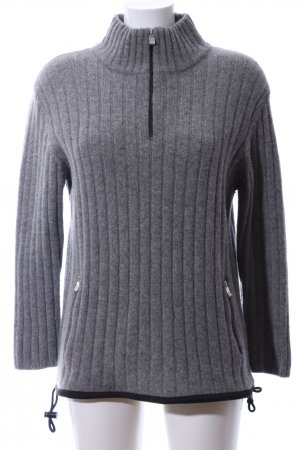 Part two Wool Sweater light grey flecked business style