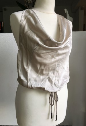 Patricia Pepe Backless Top light grey-oatmeal silk