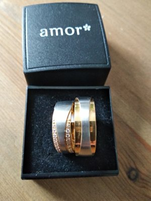amor Partner Ring silver-colored-gold-colored