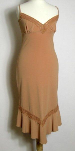 Party Dress Träger Kleid Größe 36 GRAINE DE FRINGUES Braun ABI Ball Robe