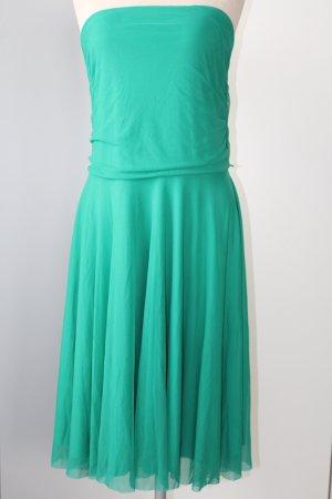 Party Kleid grün lang red herring Debenhams Gr. UK 18 EUR 46 D 44 Midikleid trägerlos