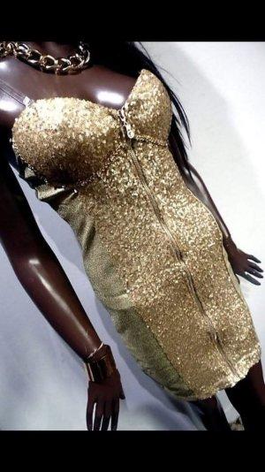 Vestido de camuflaje color oro tejido mezclado