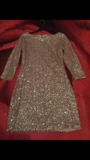 Party Kleid mit Pailletten Neuwertig .