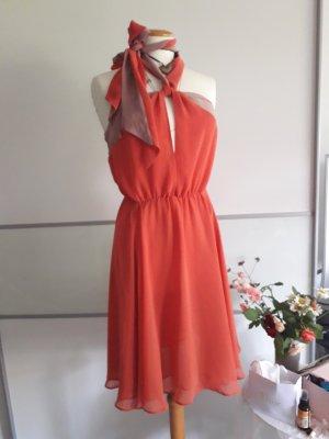 H&M Vestido de chifón color rosa dorado-rojo claro