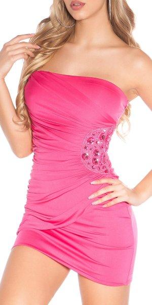 Party  Kleid Tunika Bluse gr L Blogger Neu an der Seite mit Kristallen besetz
