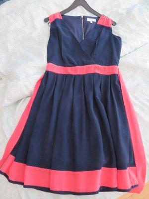 Party Kleid von Apricot Gr. 36 dkl blau pink