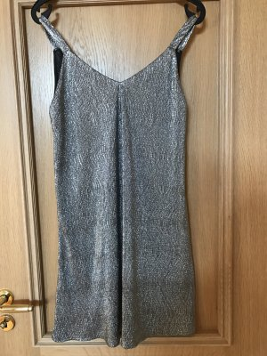 Party Kleid von Mango in Silber Größe M NEU