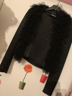 Tailleur noir-argenté
