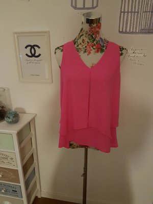 Atmosphere Off-The-Shoulder Top neon pink