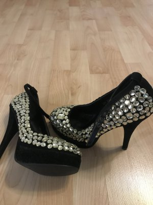 Plateauzool pumps zwart