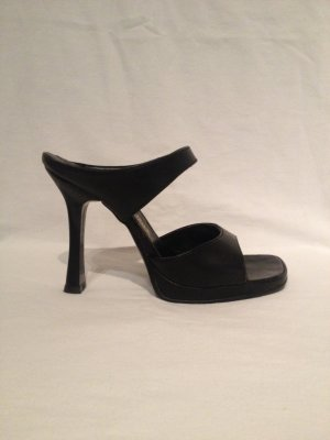 *Party* Riemchen Sandaletten Gr 36 Pumps HighHeels schwarz