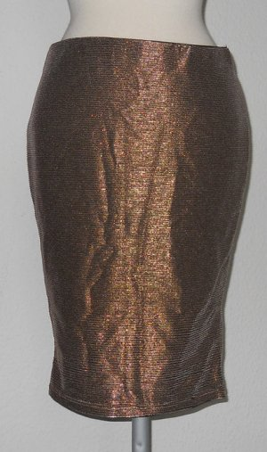 Party Rock knielang Gr. 38 M gold silber neu