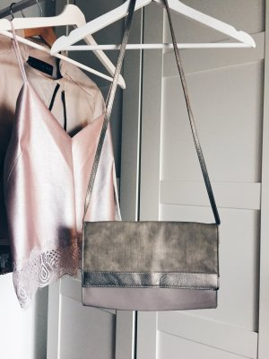 Party Tasche H&M beige nude clutch Umhängetaschen