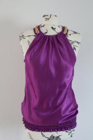 Halter Top blue violet-gold-colored