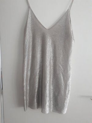 Zara Pinafore dress silver-colored