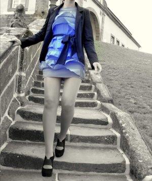 H&M Vestido estilo flounce azul