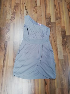 One Shoulder Dress light grey