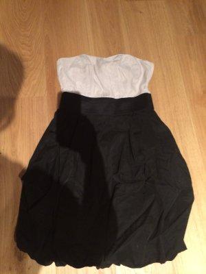 Partykleid beige/schwarz