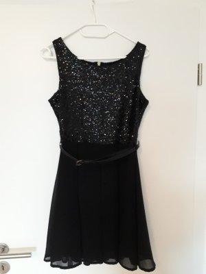 Partykleid / Cocktailkleid schwarz mit Pailetten Glamorous Gr. M
