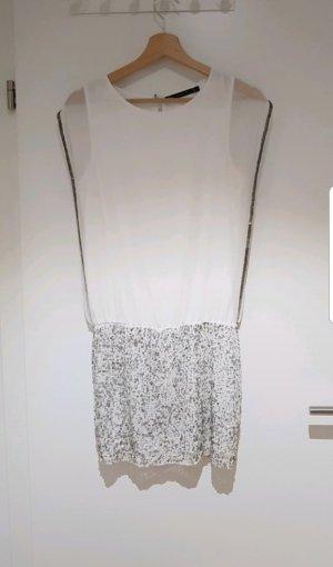 Zara Abito con paillettes bianco-argento