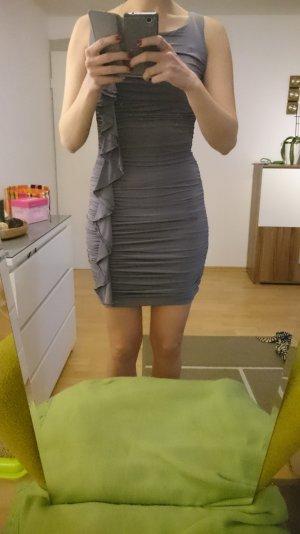 Partykleid figurbetont silber grau Gr 36