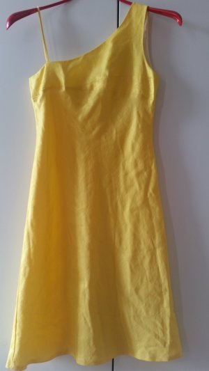 AF One Shoulder Dress gold-colored-yellow
