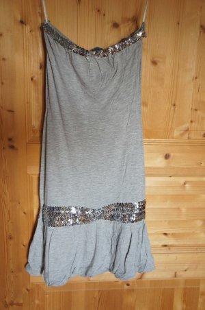 Partykleid grau silber Pailletten Melrose Größe 32