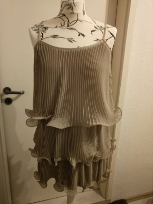 Partykleid, H&M, taupe, Gr. 36 / S