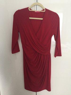 Goddess Vestido elástico rojo oscuro