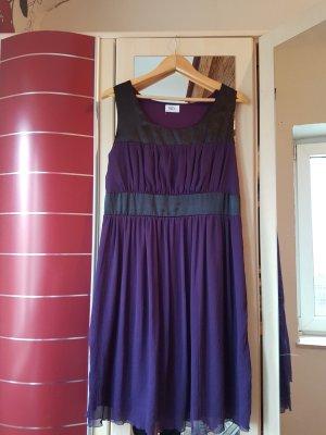 b.p.c. Bonprix Collection Vestido rojo zarzamora-negro Poliéster