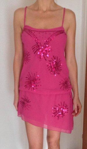 Partykleid in pink mit Pailletten in Größe 38