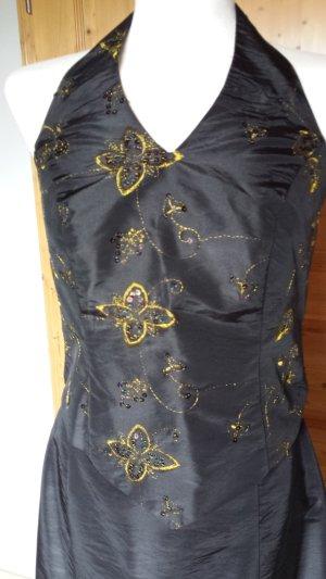 Partykleid in schwarz/gold