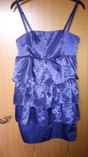 Partykleid lila Volant Bustier mit abnehmbaren Trägern in 38 M