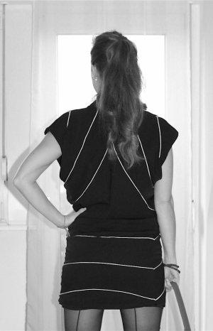 Partykleid Minikleid für Silvester schwarz von Diamonds & Pearls Gr. 34 Neu