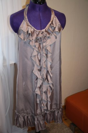 Imperial Halter Dress beige polyester