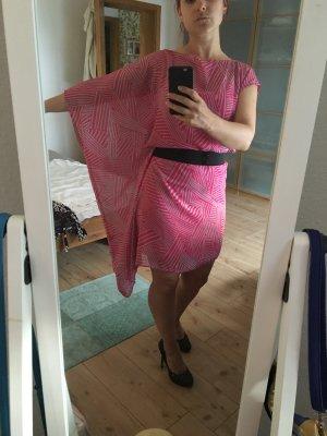 Partykleid Pink mit Flatterärmel