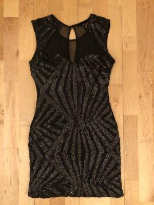 Partykleid schwarz mit Glitzer