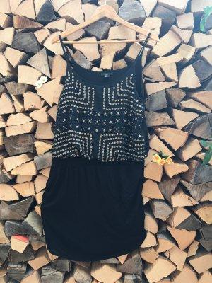 Partykleid schwarz mit Pailletten für Silvester (neu)