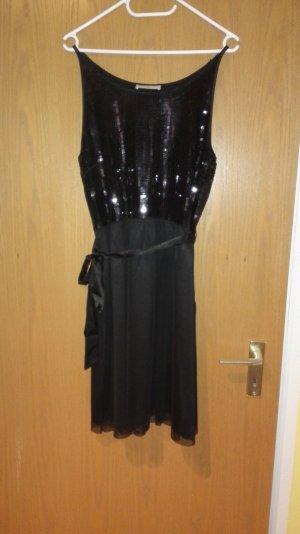 Partykleid schwarz Pailletten