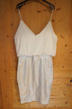 Partykleid TFNC weiß silber Größe 10
