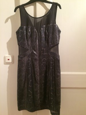Guess Vestido gris oscuro-color plata