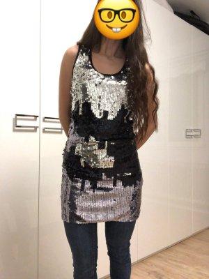 Vero Moda Vestido de lentejuelas negro-color plata