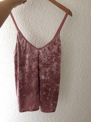 Zara Top schiena coperta rosa