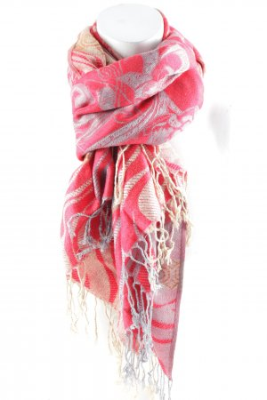 Parvenu Pashmina Pashmina red-slate-gray ethnic pattern casual look