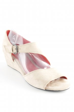 Pas de rouge Platform High-Heeled Sandal beige casual look