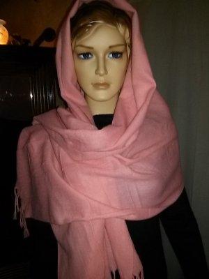 Pashmina rosa claro tejido mezclado