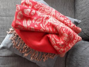 Pashmina bright red-camel